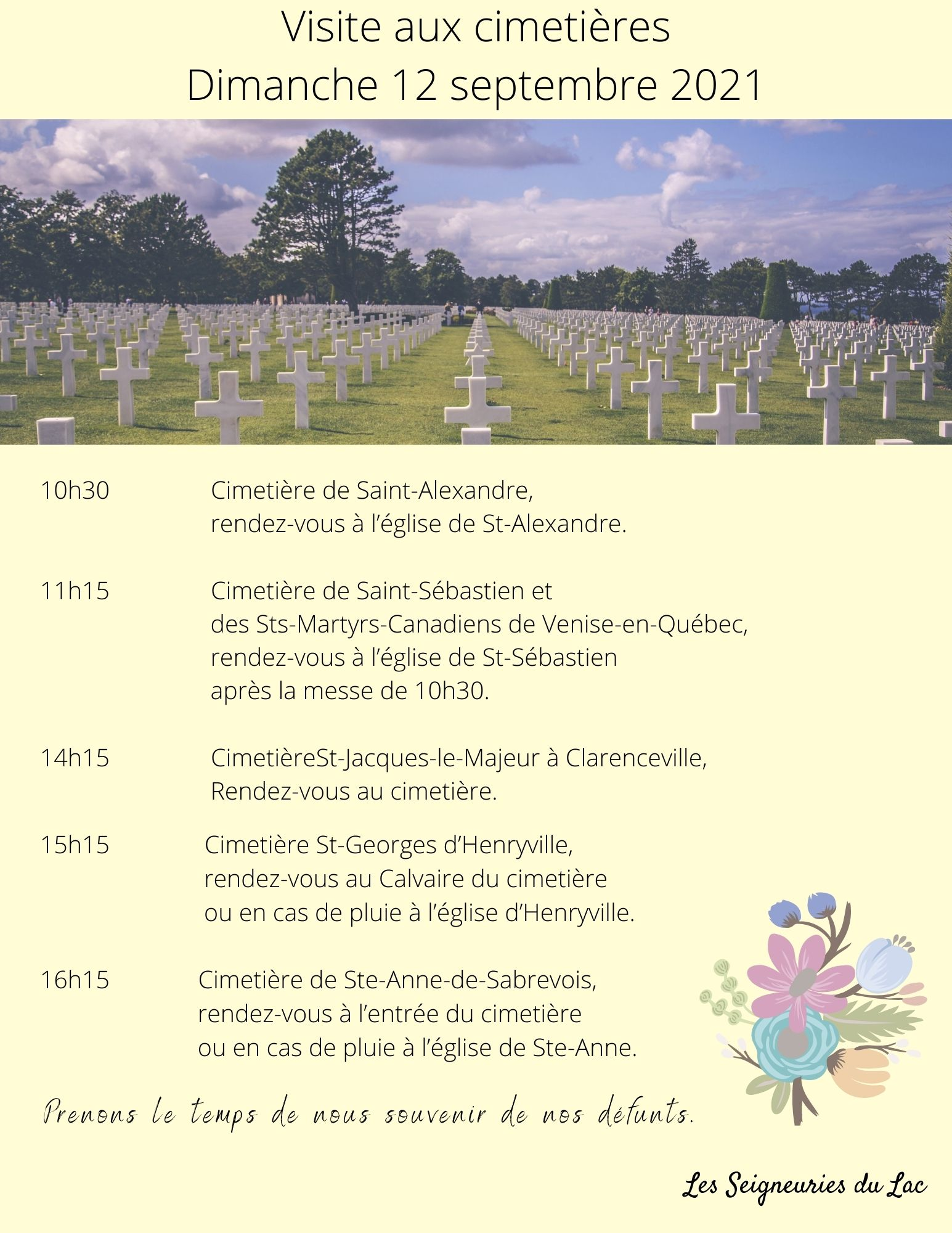 Visite aux cimetières