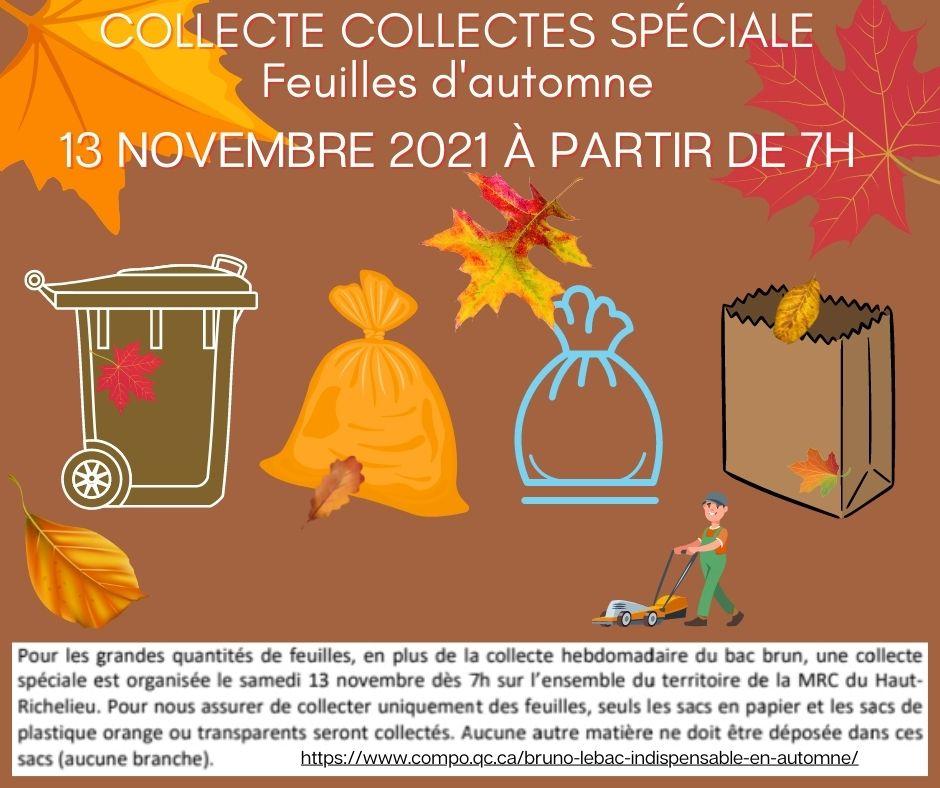 Collecte spéciale feuille d'automne